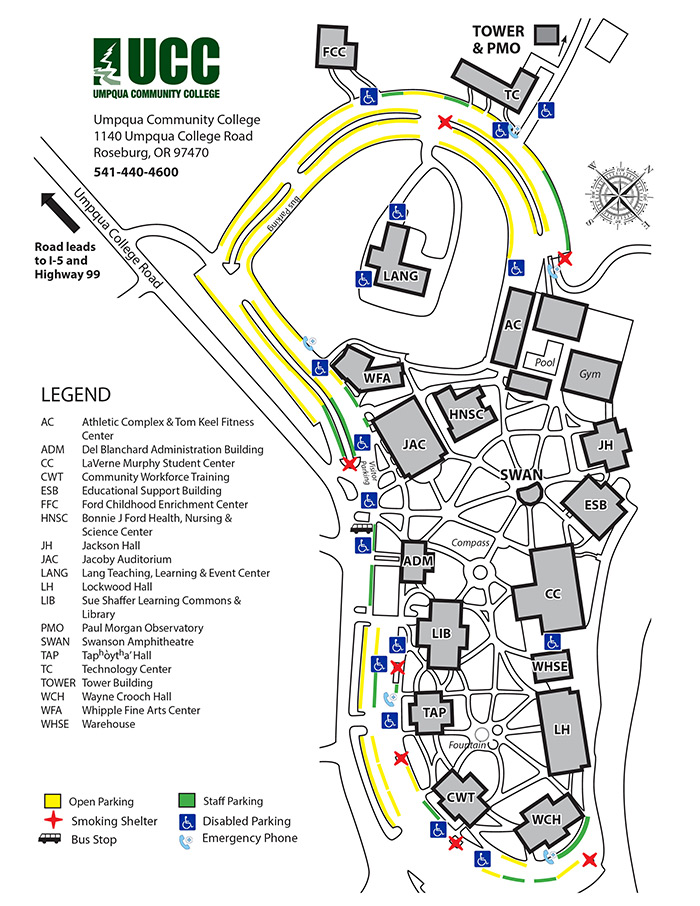 2019 Campus Map - PARKING
