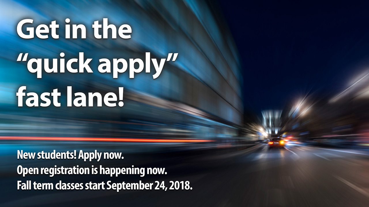 Quick Apply - Fall 2018