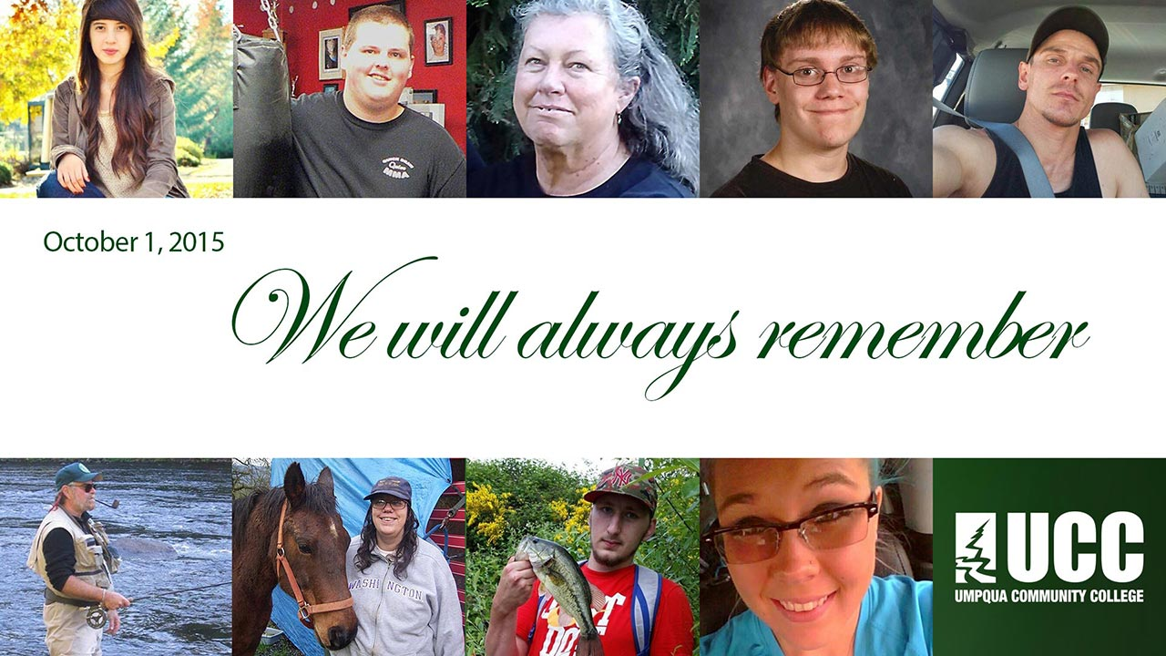Umpqua Nine - We will always remember - October 1, 2015