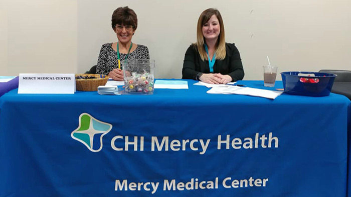 Mercy Medical Reps at UCC Job Fair