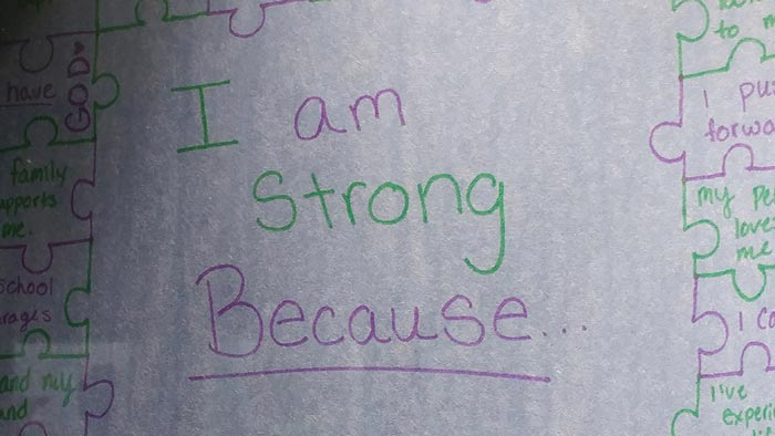 I am strong because ...