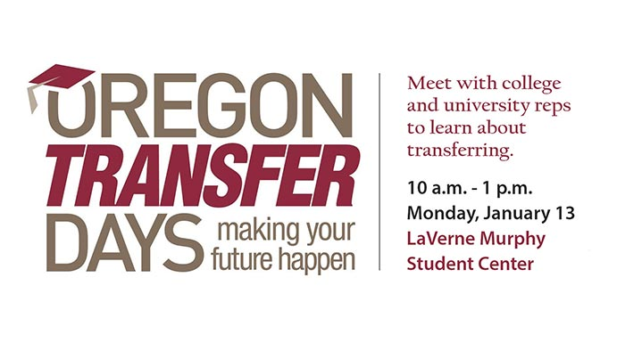 Oregon Transfer Days - Jan 13 - UCC Campus