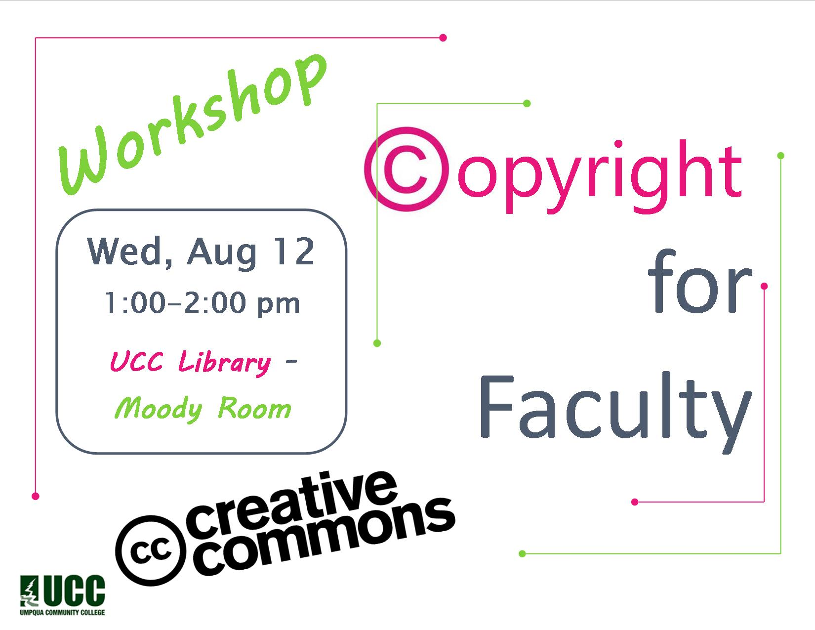 Flyer Copyright for Faculty Workshop Su 2015